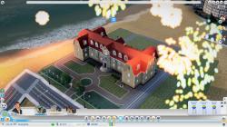 Den fantastiska borgmästaren Samson firas med fyrverkeri ovanför hans mansion av glada medborgare!