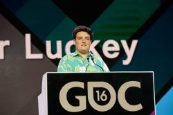 Palmer Luckey på årets Game Developers Conference. Foto: GDC